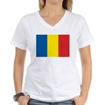 Romanian Flag Women's V-Neck T-Shirt