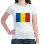 Romanian Flag Jr. Ringer T-Shirt