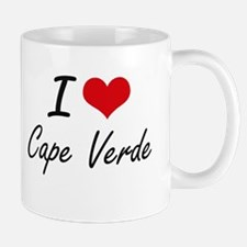I Love Cape Verde Artistic Design Mugs