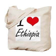 I Love Ethiopia Artistic Design Tote Bag