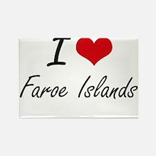 I Love Faroe Islands Artistic Design Magnets