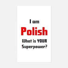 i am polish Sticker (Rectangle)