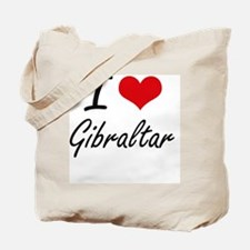 I Love Gibraltar Artistic Design Tote Bag