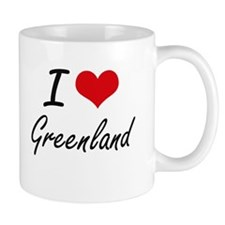 I Love Greenland Artistic Design Mugs