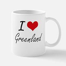 I Love Greenland Artistic Design Mugs