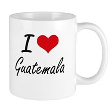 I Love Guatemala Artistic Design Mugs