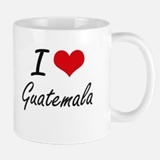 I Love Guatemala Artistic Design Mugs