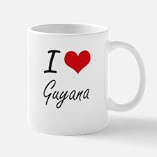 I Love Guyana Artistic Design Mugs