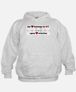 my heart belongs to MY open heart warr Hoodie