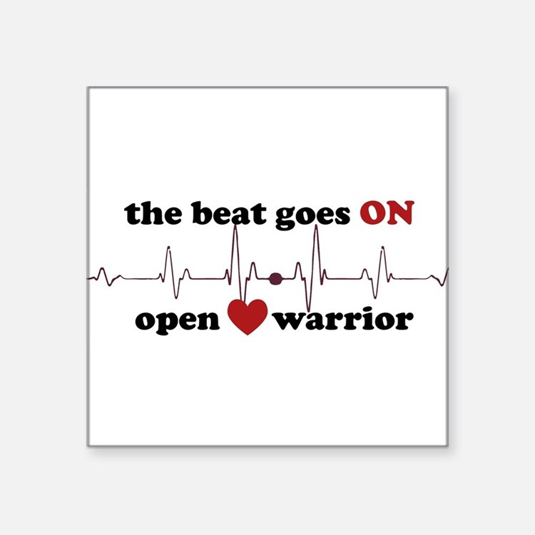 Open heart warrior Sticker