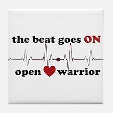 Open heart warrior Tile Coaster
