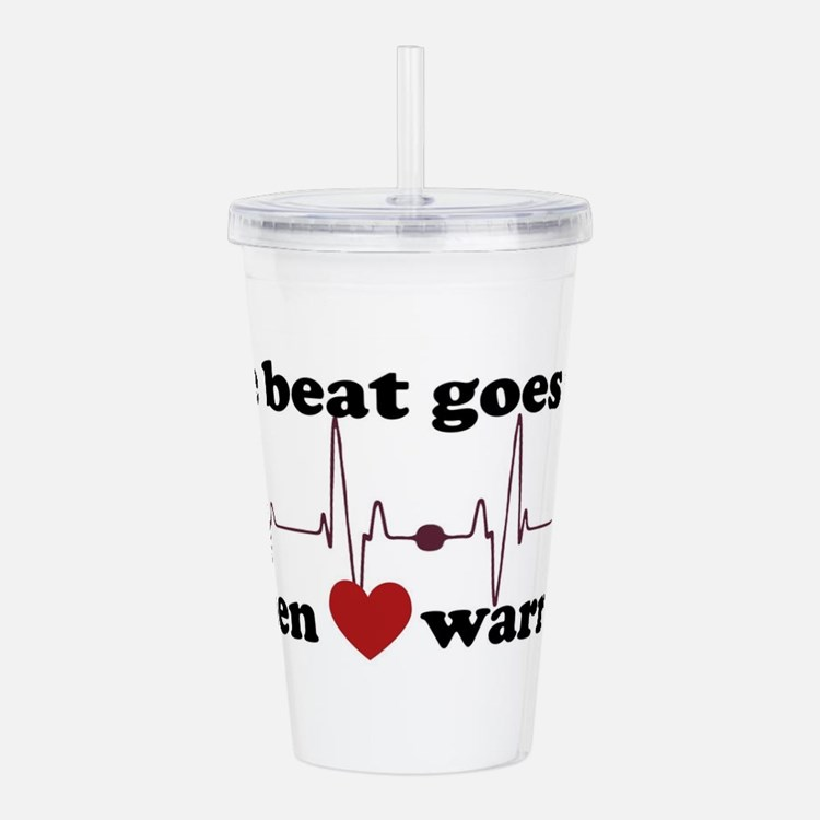 Open heart warrior Acrylic Double-wall Tumbler
