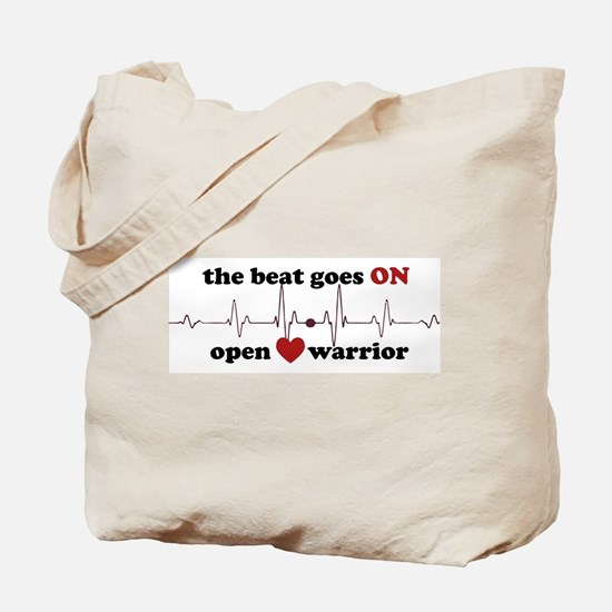 Open heart warrior Tote Bag