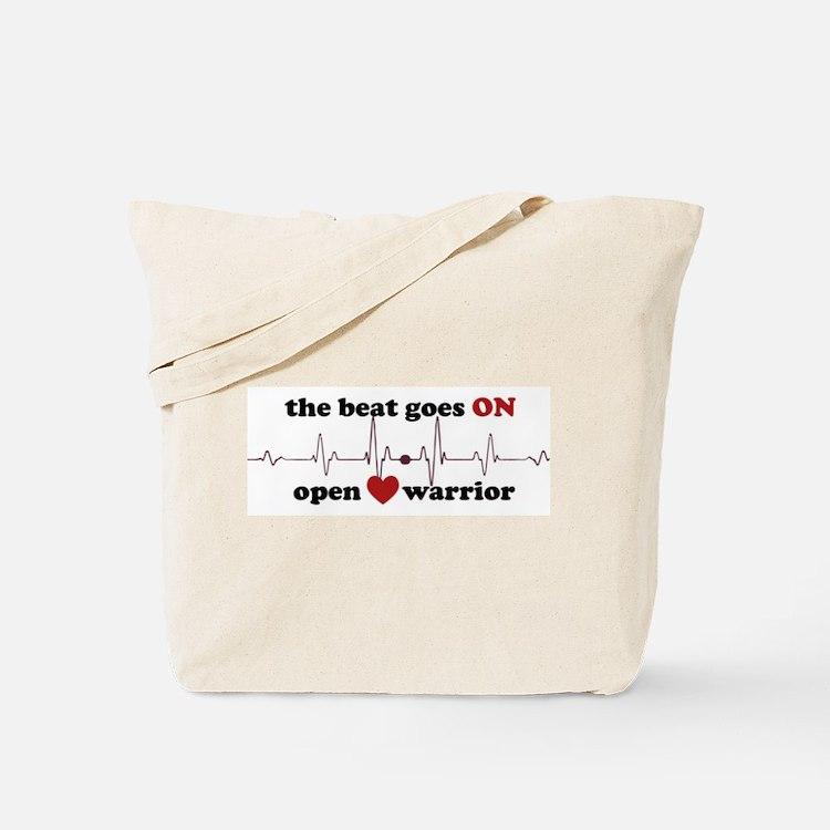 Open heart warrior Tote Bag