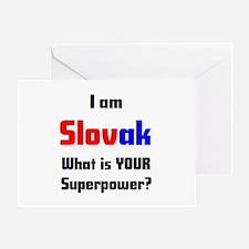 i am slovak Greeting Card