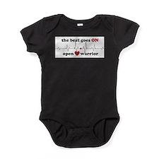 Open heart warrior Baby Bodysuit