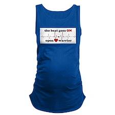 Open heart warrior Maternity Tank Top