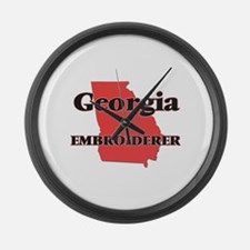 Georgia Embroiderer Large Wall Clock