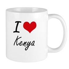 I Love Kenya Artistic Design Mugs