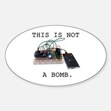This is not a bomb. Sticker (Oval)