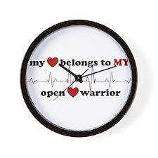 my heart belongs to MY open heart warri Wall Clock