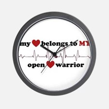 my heart belongs to MY open heart warri Wall Clock