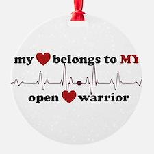 my heart belongs to MY open heart w Ornament