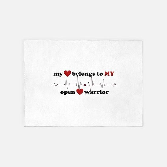 my heart belongs to MY open heart w 5'x7'Area Rug