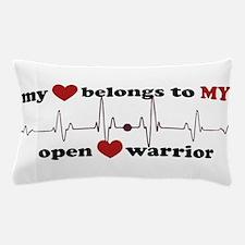 my heart belongs to MY open heart warr Pillow Case