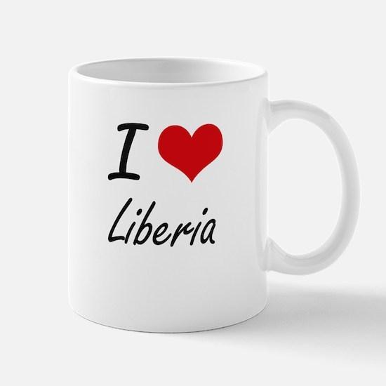 I Love Liberia Artistic Design Mugs