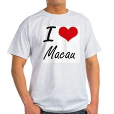 I Love Macau Artistic Design T-Shirt