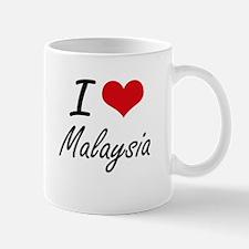I Love Malaysia Artistic Design Mugs