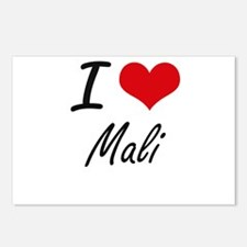 I Love Mali Artistic Desi Postcards (Package of 8)