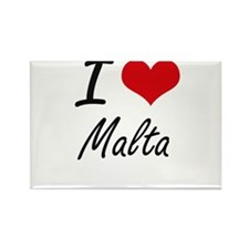 I Love Malta Artistic Design Magnets