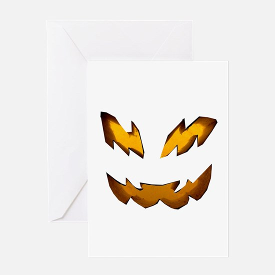 Jack-o-Lantern 1 Greeting Cards