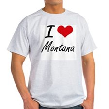 I Love Montana Artistic Design T-Shirt