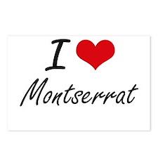I Love Montserrat Artisti Postcards (Package of 8)