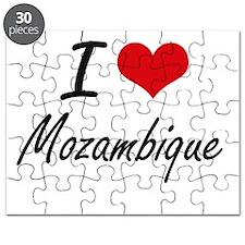 I Love Mozambique Artistic Design Puzzle