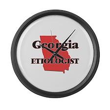 Georgia Etiologist Large Wall Clock