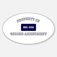 PROPERTY OF SECOND AMENDMENT 1791 Decal
