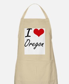 I Love Oregon Artistic Design Apron