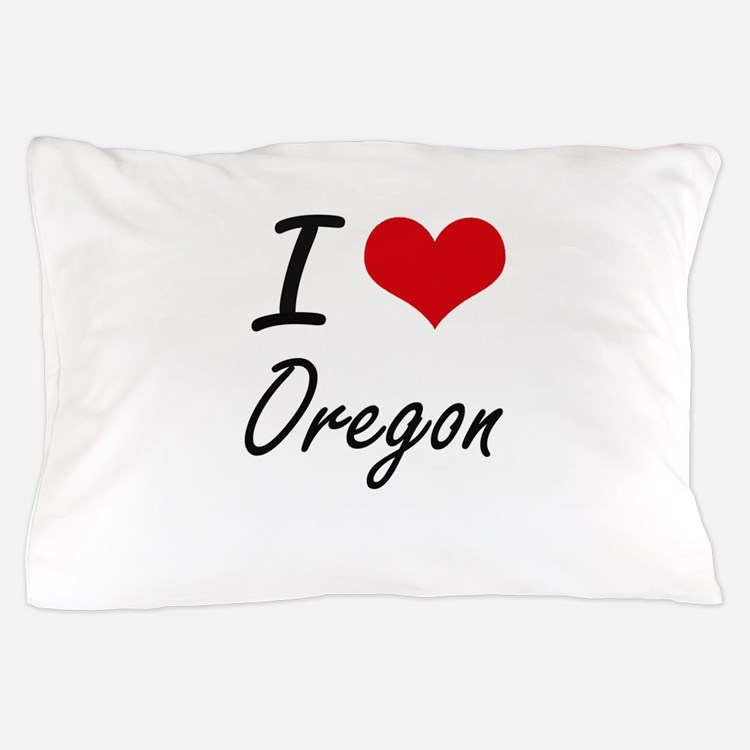 I Love Oregon Artistic Design Pillow Case