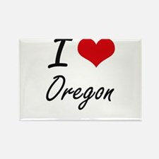 I Love Oregon Artistic Design Magnets
