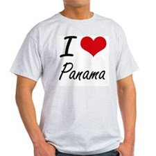 I Love Panama Artistic Design T-Shirt