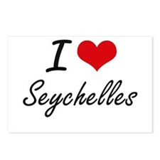 I Love Seychelles Artisti Postcards (Package of 8)