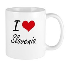 I Love Slovenia Artistic Design Mugs