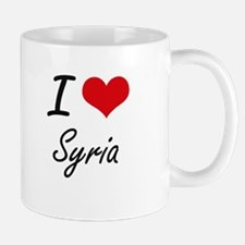 I Love Syria Artistic Design Mugs