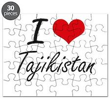 I Love Tajikistan Artistic Design Puzzle