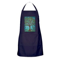 1950's Style Teal and Red Retro Cherry Tree Apron