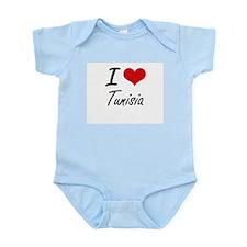 I Love Tunisia Artistic Design Body Suit